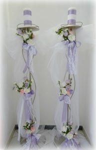 Λαμπάδες γάμου - Ιωάννινα Valentina