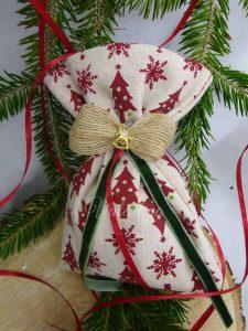 Χριστουγεννιάτικο πουγκί Valentina