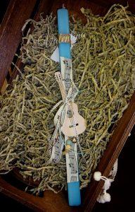 Πασχαλινή Λαμπάδα με ξύλινη κιθάρα!