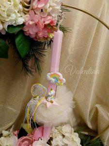 Πασχαλινή λαμπάδα Μονόκερος! #πασχαλινη_λαμπαδα #λαμπαδες #μονοκερος #unicon #handmadebyvalentina #valentinaioannina #ioannina