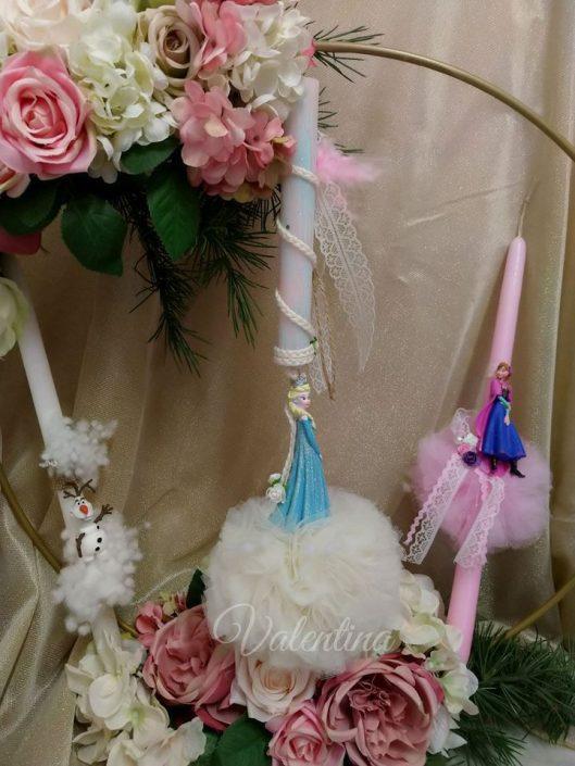 Πασχαλινές λαμπάδες Elsa, Anna και Olaf! #πασχαλινη_λαμπαδα #λαμπαδες #ψυχρα_και_αναποδα #ελσα #αννα ολαφ #frozen #elsa #anna #olaf #handmadebyvalentina #valentinaioannina #ioannina
